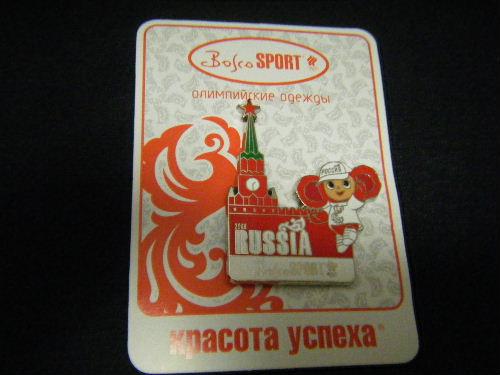 チェブラーシカ スパスカヤ塔 ピンバッチ