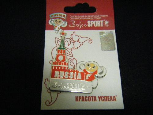 トリノオリンピック チェブラーシカ スパスカヤ塔 ピンバッチ