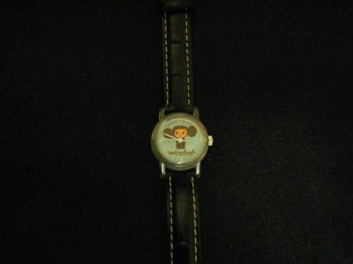 チェブラーシカの腕時計 黒 チェブ 限定品