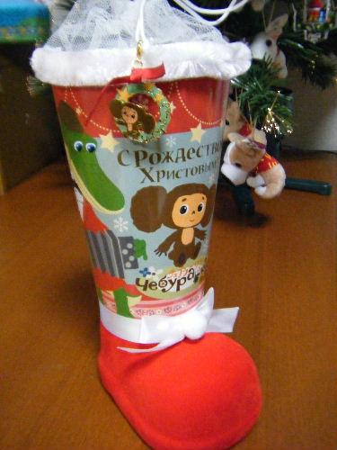 チェブラーシカ クリスマスお菓子ブーツ 2009